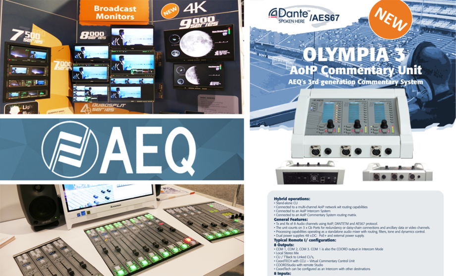 AEQ PRESENTS ITS NEW PRODUCTS AT THE NAB SHOW 2017 IN LAS VEGAS