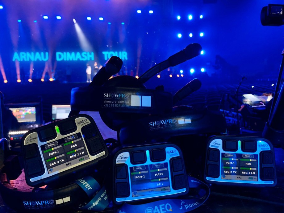 AEQ CROSSNET AND XPLORER DRIVE RELIABLE COMMS ON STAGE DURING THE ARNAU DIMASH TOUR.
