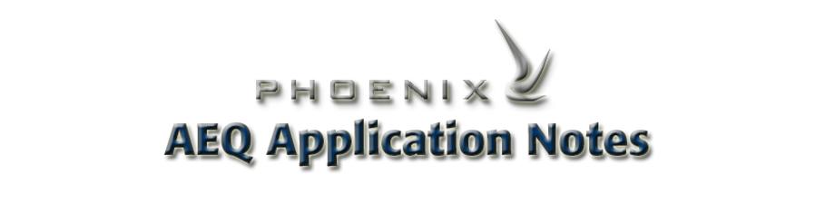 aeq usa phoenix application notes