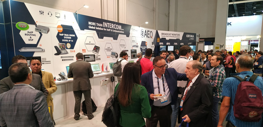 NEW AEQ PRODUCTS WERE EXHIBITED AT THE 2019 NABSHOW, BOOTH C3651, April 8-11