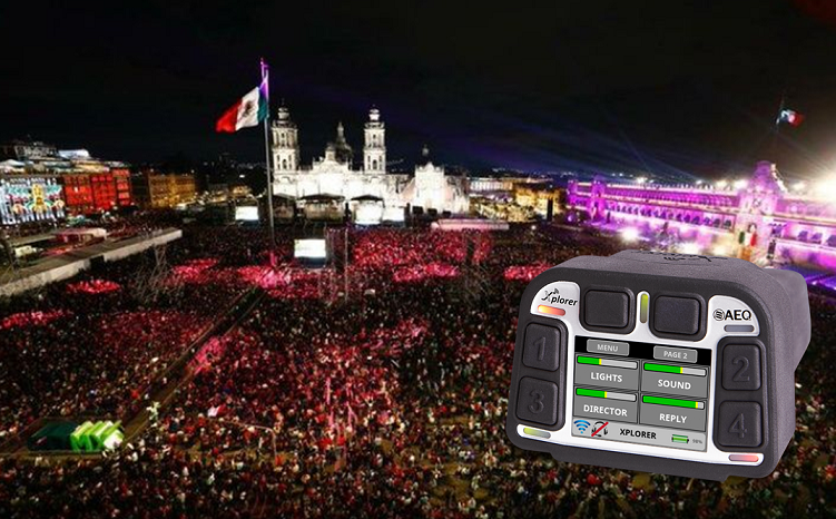 "TELEMUNDO USE AEQ XPLORER WIRELESS INTERCOM TO BROADCAST ""THE SHOUT"" FROM MEXICO"
